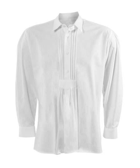 trachtenhemd-weiss-mit-biesen,  Uniformhemden und Blusen