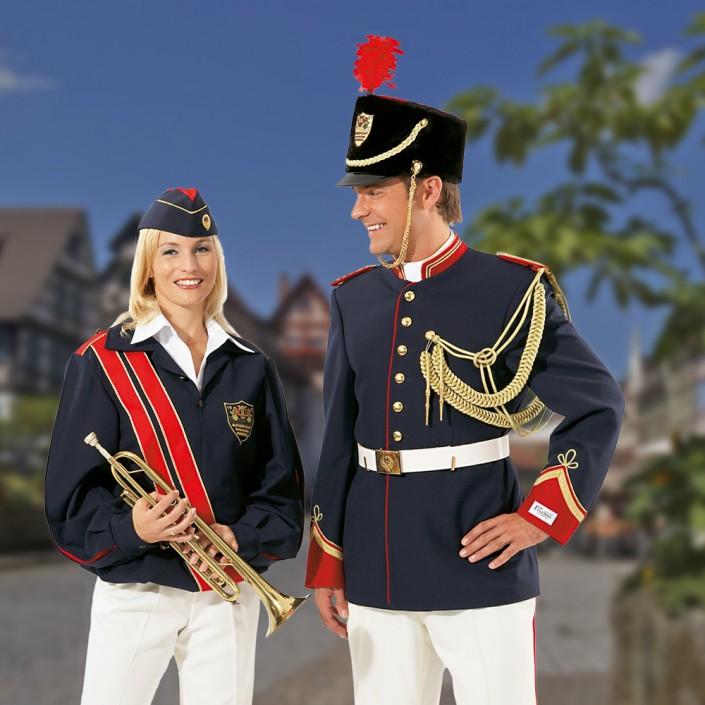 uniformblouson-waffenrock-blau-705x705,  Fanfarenkorps, Fanfarenzug