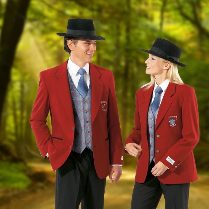 uniformjacke-dame-und-herr-rot-mit-musikerhut-705x705,  Uniformen