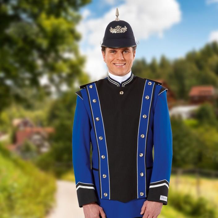uniformjacke-mit-tschako-blau-schwarz-705x705,  Marchingband