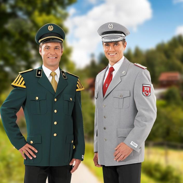 uniformmuetze-gruen-und-grau-705x705,  Schirmmützen